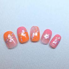 橙×和柄グラデーション